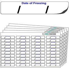 """640 Congelatore etichette """"data di congelamento"""" Congelatore Grade Autoadesivo Adesivi."""