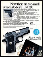 1987 COLT Mustang and Government Model 380 Pistol PRINT AD Gun Advertising