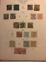 GERMANY STATES SOUTHERN DISTRICT STAMPS FROM THE MID 1800'S USED