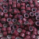 200 5mm Burgundy Silicone Micro Rings Beads for I Stick Tip Human Hair Extension