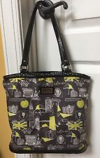 Lulu Guinness handbag Purse with Wallet London Print, Vintage! Adorable!