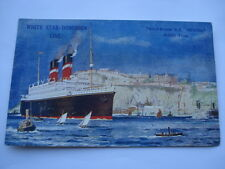 "C1909 WHITE STAR-DOMINION LINE TRIPLE-SCREW S.S.""REGINA"" POSTCARD"