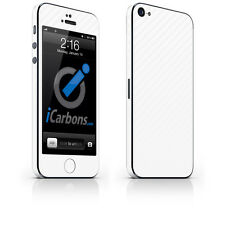 iPhone 5 Skin - White Carbon Fibre skin by iCarbons