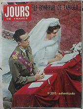 JOURS DE FRANCE REVUE N° 319 DU 24 DECEMBRE 1960 MARIAGE LA REINE FABIOLA KIRAZ