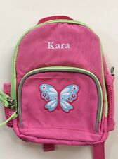 Pottery Barn Kids Preschool Mini Fairfax Pink Butterfly Backpack Name Kara New!