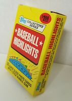 VINTAGE 1987 TOPPS COLLECTOR SERIES 33 SUPER GLOSS CARD SET - NEW UNOPENED