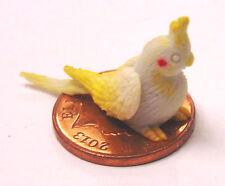 1:12 Scale Polymer Clay Baby Grey Cockatoo Dolls House Miniature Garden Bird C3