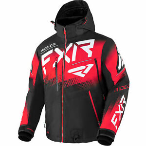 FXR Black/Red/White Boost FX Jacket F.A.S.T Insulated Snowproof Moisture