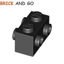 LEGO x 2 / 52107 - 4253815 Brique 4 Plots (noir black) Brick 4 Knob 1x2 NEUF NEW