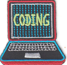 """""""CODING"""" PATCH - Iron On Embroidered Patch/School, Learning, Research"""