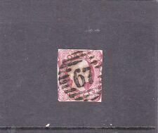 Portugal D. Pedro V 25 Reis (1856-58) Cancel Type 3:5:3 # 67 Oliveira Azemeis