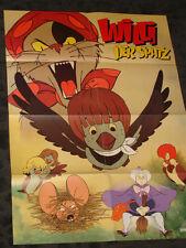 Willi the Sparrow Children's Cartoon folded German Movie video promo Poster