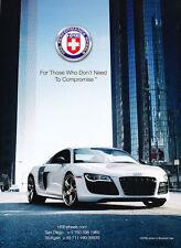 2012 Audi R8 - HRE Wheels -   Classic Car Advertisement Print Ad J62