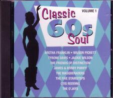 Classic 60s Soul CD WILSON PICKETT JACKIE WILSON ARETHA FRANKLIN OTIS REDDING