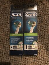 6 ORAL-B Floss Action  Replacement Toothbrush Tooth Brush Heads Brand New