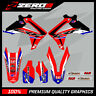 HONDA CR CRF 125 250 450 MOTOCROSS MX GRAPHICS SPLIT KIT FACTORY BLUE