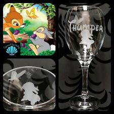 Personalised Disney Thumper Wine Glass! Free Name Engraved! Birthday Gift