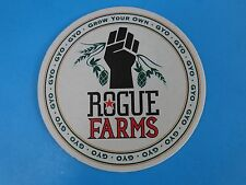 Beer Bar Coaster ~*~ ROGUE Brewing Co GYO = Grow Your Own FARMS ~ OREGON Brewery