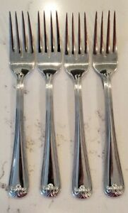 Set of 4 Gorham WINFIELD Glossy 18/8 Stainless Salad Forks Flatware