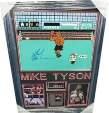 Mike Tyson Hand Signed Autographed Punch Out Photo W/ Game + controller Framed