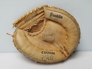 Vtg Franklin Custom Pro Prime Steerhide 1404 RH Baseball Catchers Mitt Japan