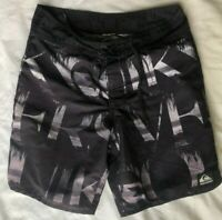 Boys Quiksilver Board Shorts Size 14 Black