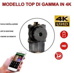 Microcamera SPIA ip WIFI nascosta 4K SPY camera mini dv DVR incorporato CAM A/V
