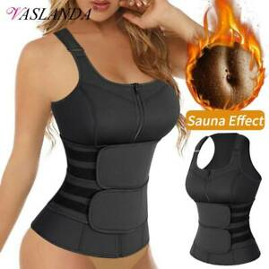 Women Neoprene Sauna Vest Sweat Body Shaper Waist Trainer Fat Burner Shapewear