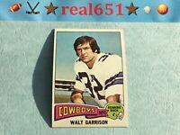 1975 Topps NFL #341 WALT GARRISON | Pretty Decent Vintage | Dallas Cowboys