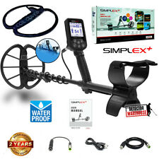 Nokta Simplex+ Waterproof Metal Detector with Coil Cover, Rechargeable Battery