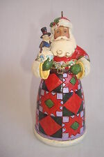 "Jim Shore ""Santa/Toy Bag/Snowman"" Hanging Ornament #4027726 MIB 2012"