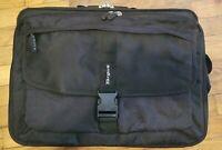 """Targus 17"""" Black Laptop Shoulder Carrying Case Bag Multi Pockets"""