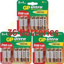 36 GP Ultra AA MN1500 LR6 BATTERIEN LR6 1.5V alkalisch Hochleistung 3 x 12 stk.