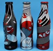 *Full 2007 Belgian iTunes aluminum Coca Cola 3 Bottle Set i-Tunes Coke Belgium