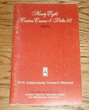 Original 1979 Oldsmobile Delta 88 Ninety-Eight Cruiser Owners Operators Manual