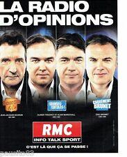 PUBLICITE ADVERTISING 116  2013  radio RMC   JJ Bourdin Truchot Marschall Brunet