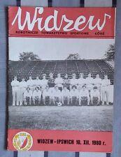 Programs Widzew Lodz, Poland - Ipswich Town England 1980