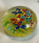 Antique+Paperweight+Floral+vintage+Stunning++%26+Colorful