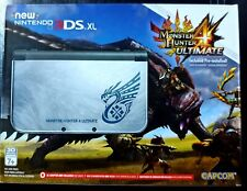 Nintendo New 3DS XL Monster Hunter 4 Ultimate Bundle Silver Handheld System