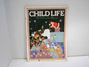 Vintage Child Life Children's Magazine December 1934 Holiday Issue Original