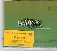 (FM572) Witness, Here's One For You - 2001 DJ CD
