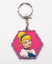 Princess Cinderella Keyring Bagcharm Keychain Zip puller Rubber PVC UK Seller