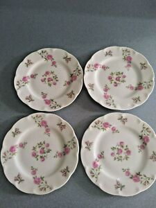 "4 Beautiful Theodore Haviland New York ""Delaware""Bread Plates Vintage"