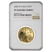 2002 W 1/2 oz $25 Proof Gold American Eagle NGC PF 70 UCAM