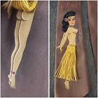 RARE Vtg Hand Painted PEEKABOO NUDE Fringe Hawaiian Pin Up WW2 40s Necktie Tie