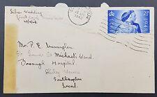 GB 1948 Argent mariage 2 1/2 d sur plaine couverture, Southampton annuler