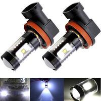 H11 LED Headlight 240W 32000LM 4-Sides Kit Low Beam Fog Lamp Bulbs Canbus 6500K