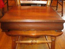 Vintage Genuine Mahogany Silver Flatware Wood Storage Chest Tarnish Resistent
