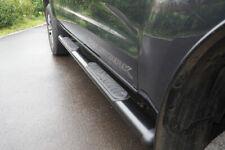"""VW Amarok Side Steps 4"""" Oval Black Side Bar Steps"""
