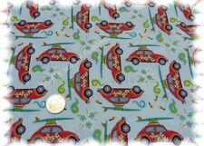 Surf Beetle aqua blau Baumwolle Popeline Flower Power Hilco Webware 50 cm
